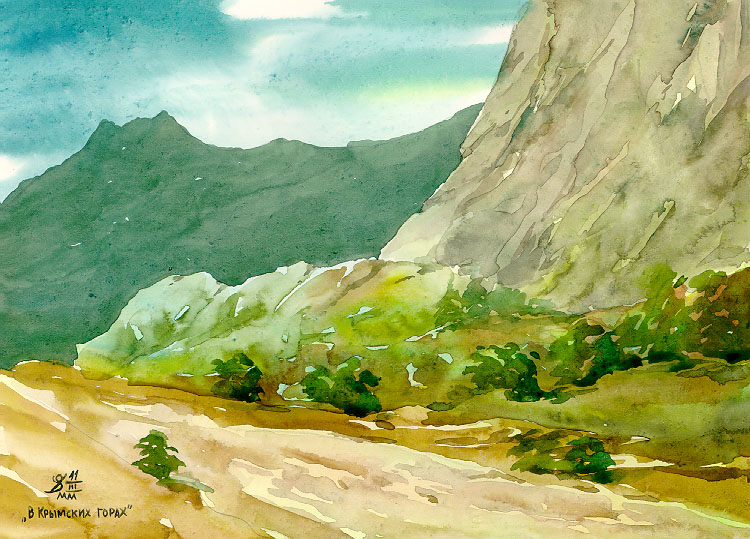Рисовать пейзажи акварелью поэтапно